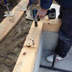 構造土台の継手とアンカーボルトの位置