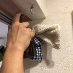 藏家の事務所の内壁左官塗仕上げ ひび割れ補修の仕方