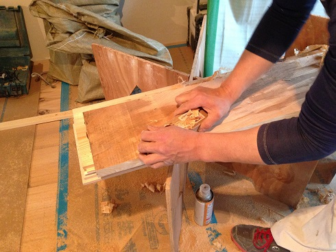 15:マスタープランさん 欅玄関框加工