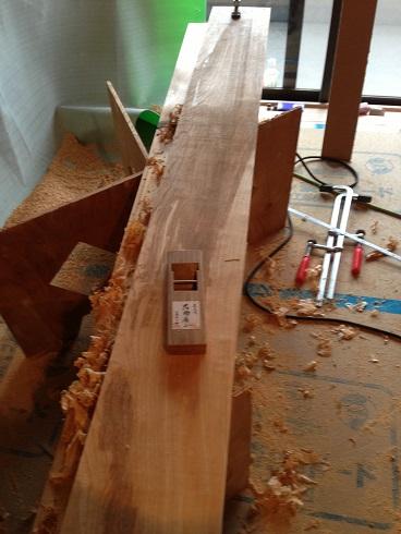 16:マスタープランさん 欅玄関框加工