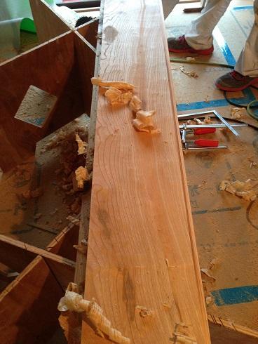 17:マスタープランさん 欅玄関框加工