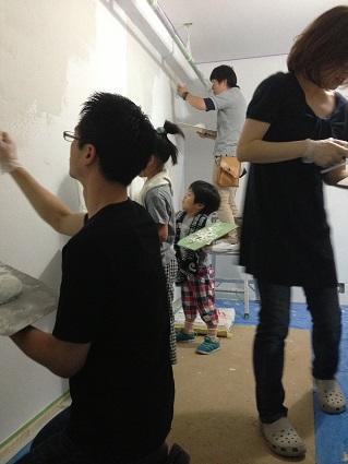 マスタープランさん設計I様邸 左官塗り体験4