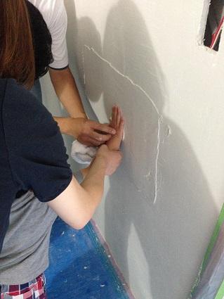 マスタープランさん設計I様邸 左官塗り体験8