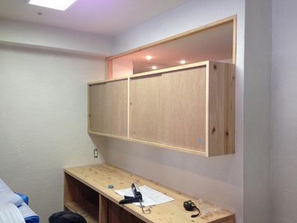 10堺市北区I様邸キッチン大工造作カップボード