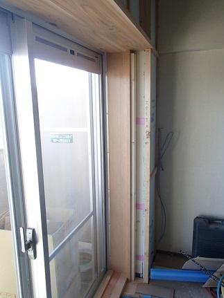 30 芦屋O様邸掃き出し窓枠 内窓しゃくり