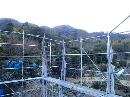 3 山の棲家土台敷き