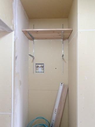 42 芦屋O様邸洗濯機 棚