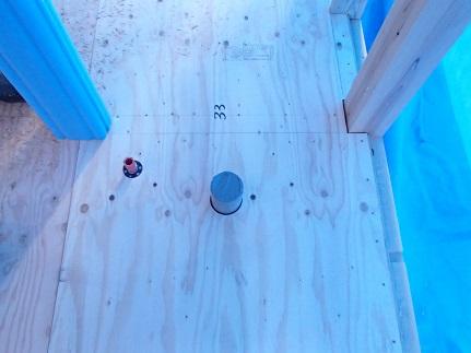 16 八尾「山の棲家」トイレ配管