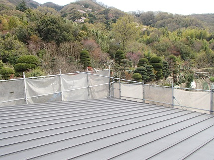 38 八尾「山の棲家」屋根工事