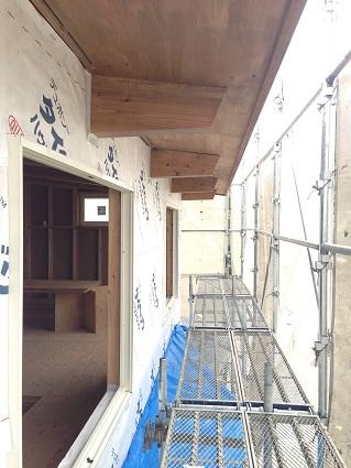 39 八尾「山の棲家」外壁タイベック