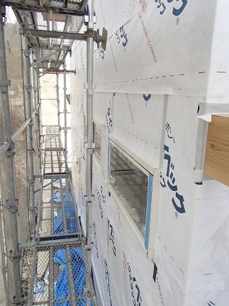 40 八尾「山の棲家」外壁タイベック