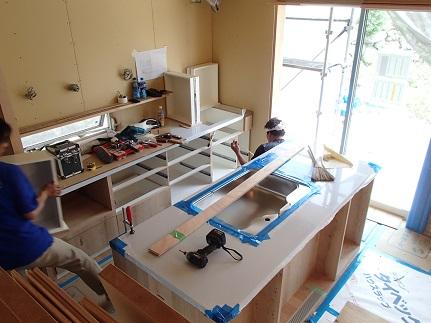 24 「山の棲家」造作家具キッチン