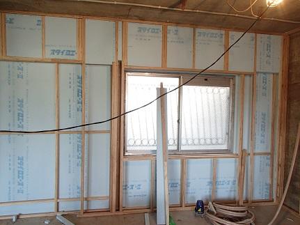 5N様邸木のマンションリノベーション 外壁面断熱改修