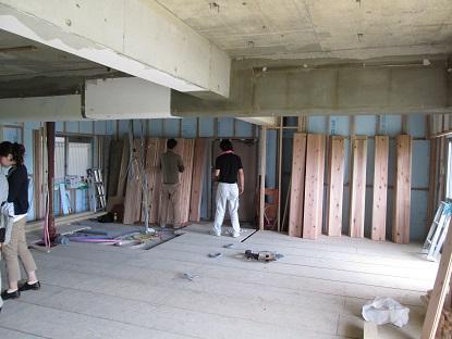10N様邸木のマンションリノベーション フロアーの仕分け