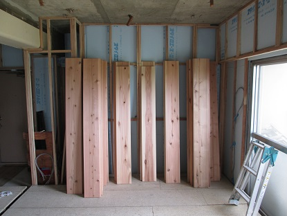 12N様邸木のマンションリノベーション フロアーの仕分け
