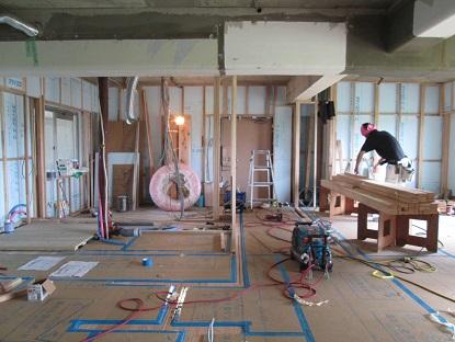 17N様邸木のマンションリノベーション 間仕切り壁