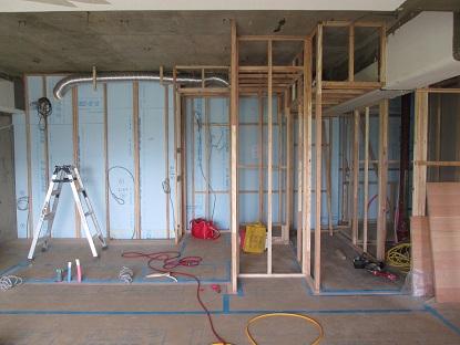 21 N様邸木のマンションリノベーション 間仕切り壁