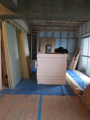 22N様邸木のマンションリノベーション 石膏ボード