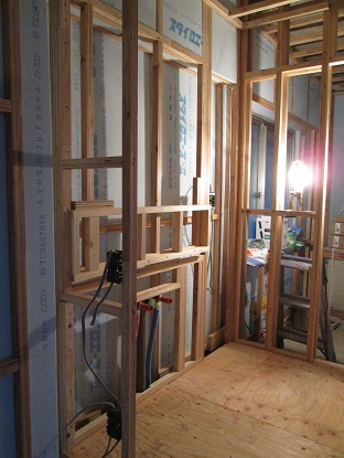 23 N様邸木のマンションリノベーション 洗面下地