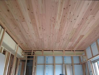 24 N様邸木のマンションリノベーション 天井羽目板