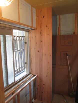 25 N様邸木のマンションリノベーション 杉巾剥ぎパネル