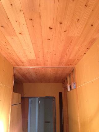 28 N様邸木のマンションリノベーション 天井羽目板