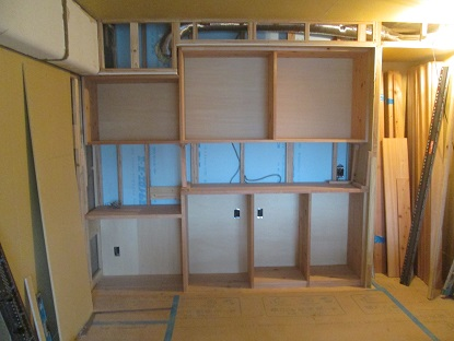 31 N様邸木のマンションリノベーション 大工造作カップボード
