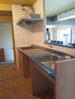 33 N様邸木のマンションリノベーション 大工造作キッチン