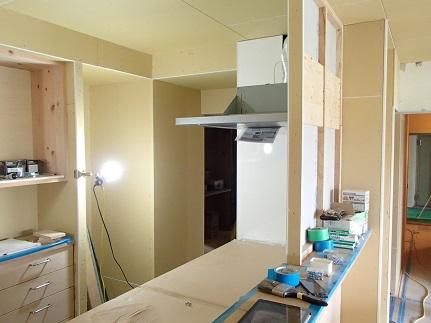 35 N様邸木のマンションリノベーション 大工造作キッチン