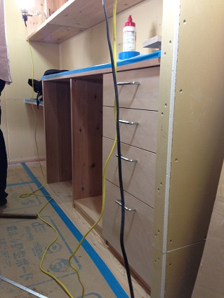 36 N様邸木のマンションリノベーション 大工造作キッチン