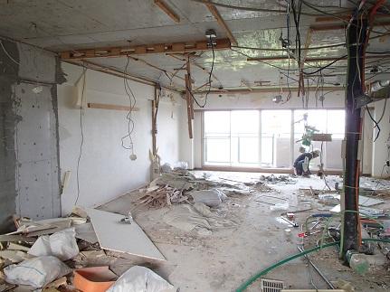 11 千里山・木のマンションリノベーションI様邸 解体