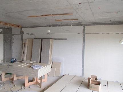 22 千里山・木のマンションリノベーションI様邸 乾式二重床施工