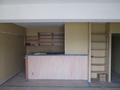 9 N様邸木のマンションリノベーション 天井珪藻土クロス