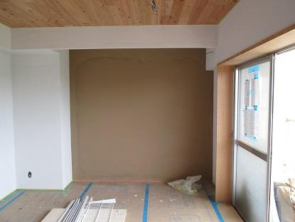 20 N様邸木のマンションリノベーション 左官塗り体験
