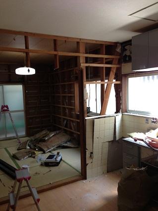 11 藏家の1階新事務所改装工事解体開始