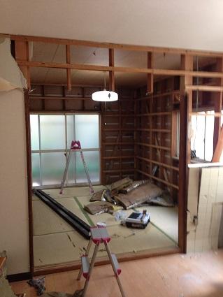 12 藏家の1階新事務所改装工事解体開始