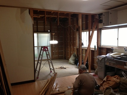 1 藏家の1階新事務所改装工事解体