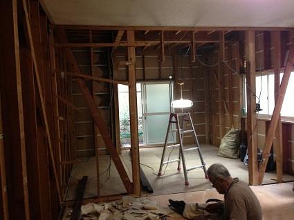 3 藏家の1階新事務所改装工事解体