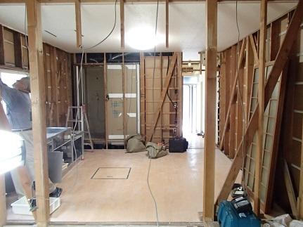 5 藏家の1階新事務所改装工事解体