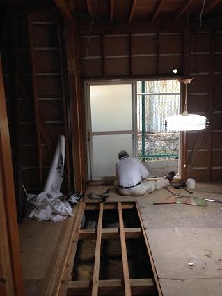6 藏家の1階新事務所改装工事解体