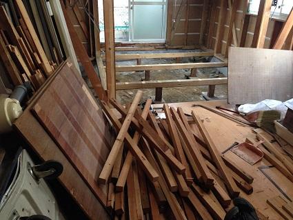 7 藏家の1階新事務所改装工事解体