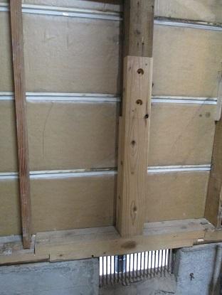 15 藏家の1階新事務所改装工事柱補強