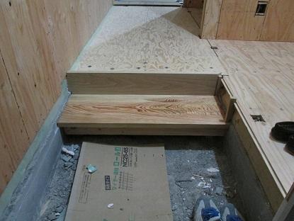 6  藏家事務所リノベーション 地松の式台と栗の框