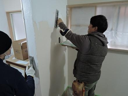 17 藏家新事務所左官工事