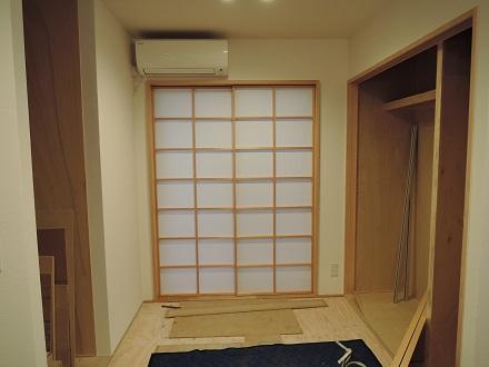 23 藏家新事務所建具搬入取付け