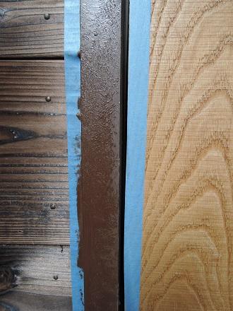 51 藏家新事務所玄関ドア枠塗装