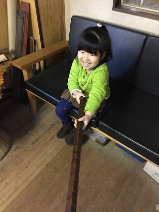 92 藏家新事務所栗玄関ドア 特注