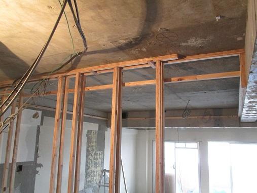 29 Y様邸マンションリノベーション工事 壁間仕切り