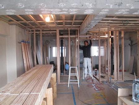 33 Y様邸マンションリノベーション工事 壁間仕切り