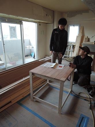 85 Y様邸マンションリノベーション工事 小上がり家具